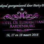 Weekend 16, 17 en 18 maart 2018 met Party Pack in Hotel Elderschans te Aardenburg