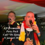 "CD Presentatie Party Pack, Café ""De Sjang"", 31 januari 2016"